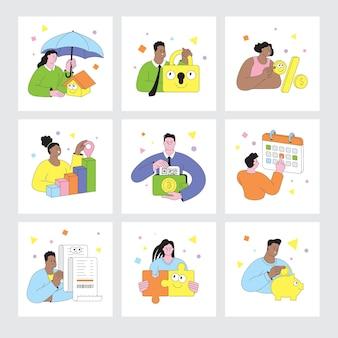 Mensen aan het werk verschillende mensen die werken aan het ontwikkelingsproces van applicaties