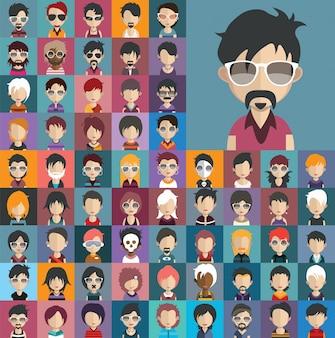 Mensen avatar collectie