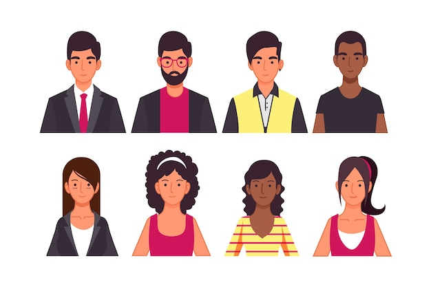 Mensen avatar concept voor illustratie concept