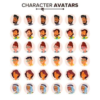 Mensen avatar set.