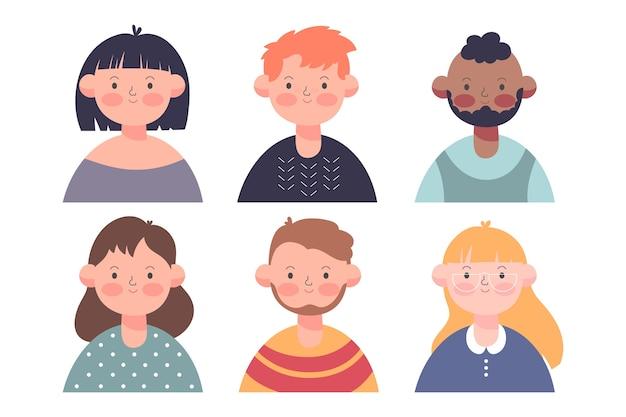 Mensen avatars collectie