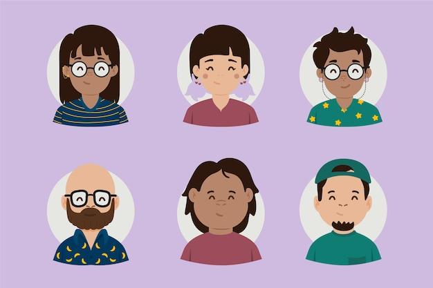 Mensen avatars concept