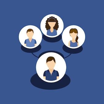 Mensen avatars gemeenschapsgroep