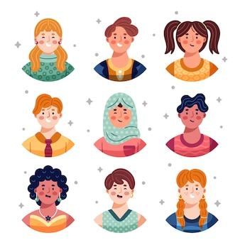 Mensen avatars illustratie