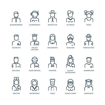 Mensen avatars personages personeel beroepen