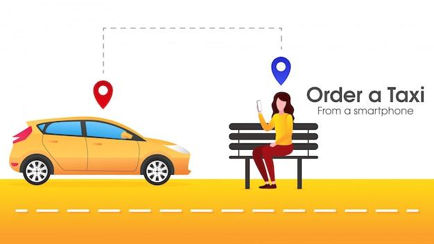 Mensen bestellen online vervoer