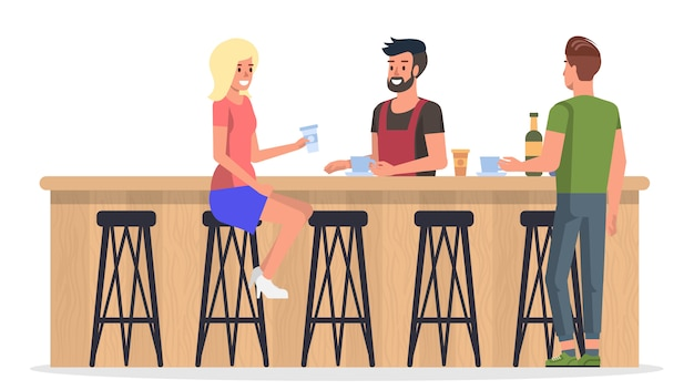 Mensen bij bar interior