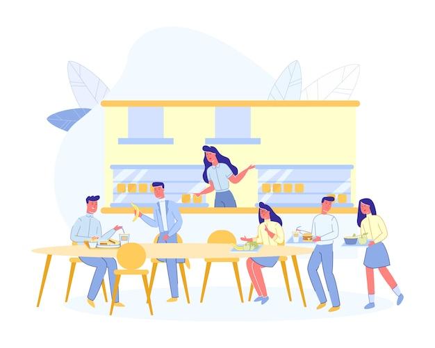 Mensen bij cafe, coffee house of espresso bar