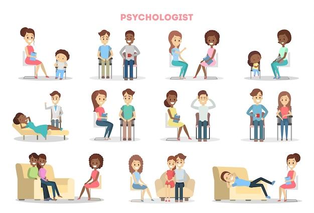 Mensen bij psycholoog.