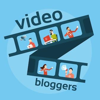 Mensen blogger video blog concept