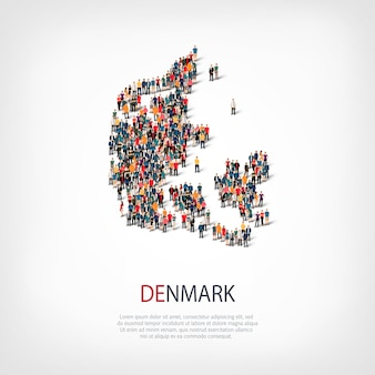 Mensen brengen land denemarken in kaart