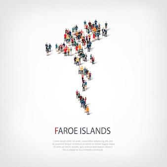 Mensen brengen land faeröer in kaart