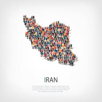 Mensen brengen land iran in kaart