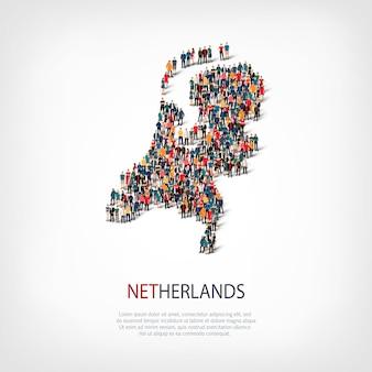 Mensen brengen land nederland in kaart