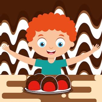 Mensen chocoladesuikergoed