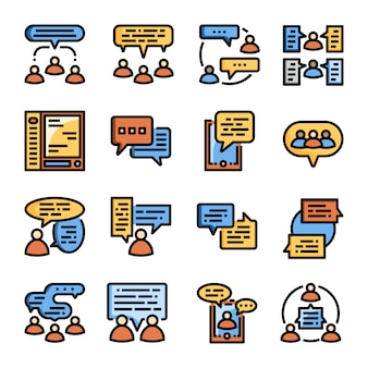 Mensen communicatie collectie