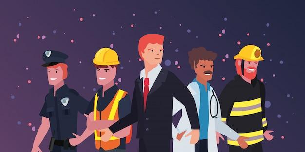 Mensen dag van de arbeid