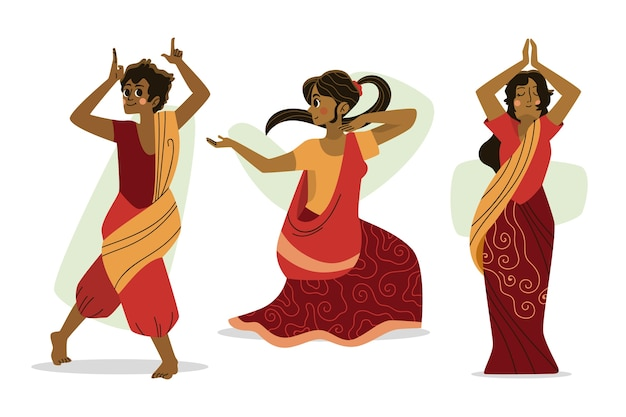 Mensen dansen bollywood design