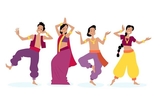 Mensen dansen bollywood-stijl
