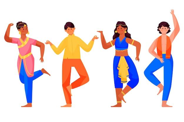 Mensen dansen bollywoow