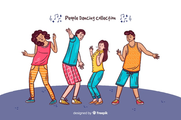 Mensen dansen collectie