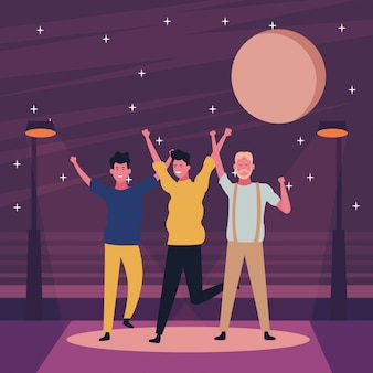 Mensen dansen en plezier maken