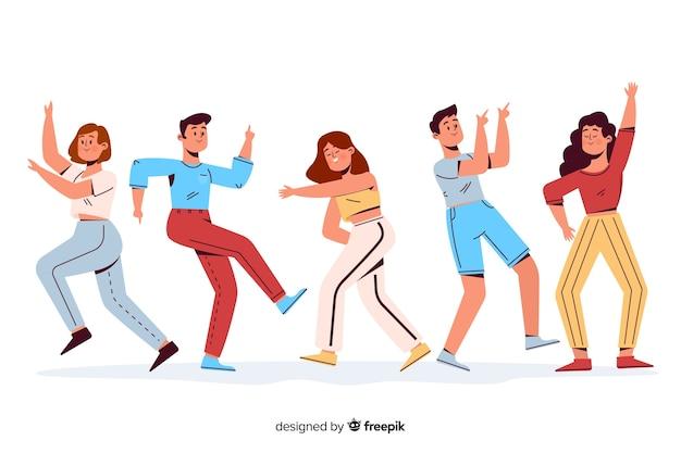 Mensen dansen