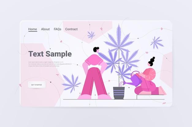 Mensen die cbd-hennepolie gebruiken die is gewonnen uit een cannabisplant die marihuana gebruikt voor medicinale doeleinden drugsgebruik in de farmaceutische industrie