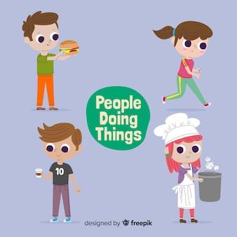Mensen die dingen doen