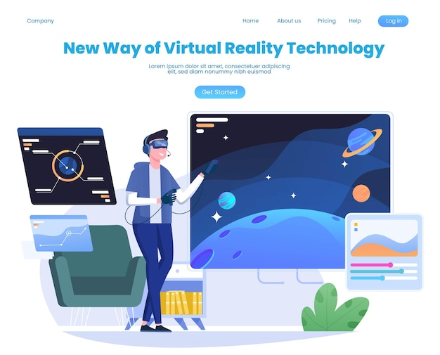 Mensen die een virtual reality-bril gebruiken die games spelen die op het grote scherm worden weergegeven