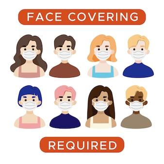 Mensen die gezichtsmaskers dragen