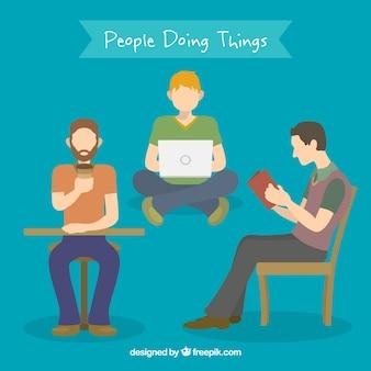 Mensen die interessante dingen
