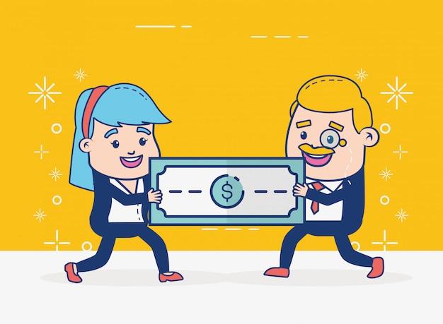 Mensen die online bankieren