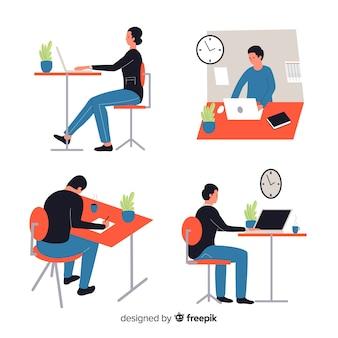 Mensen die op kantoor werken