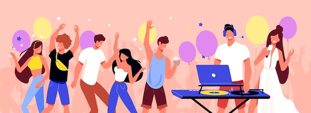 Mensen die plezier hebben op feestje