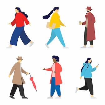 Mensen die verschillende activiteiten uitvoeren