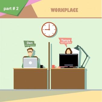 Mensen die werken in het kantoor