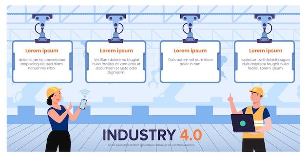 Mensen die werken met systeembesturing van hi-tech-technologie in de fabrieksworkflow