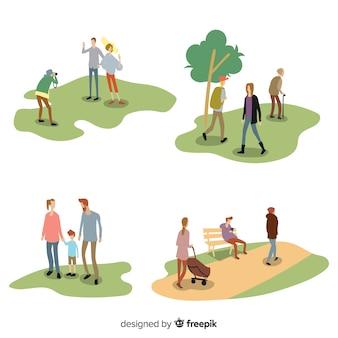 Mensen doen buitenactiviteiten