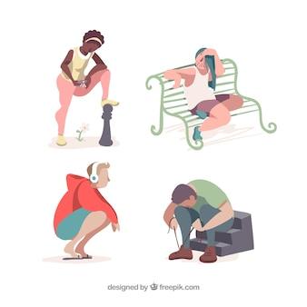Mensen doen verschillende activiteiten