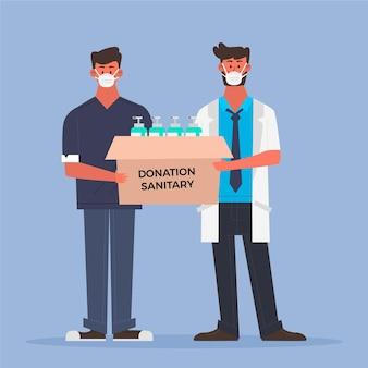 Mensen doneren maandverband
