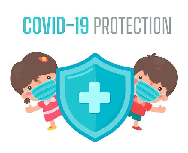 Mensen dragen medische maskers en houden sociale afstanden om verspreiding van het coronavirus tegen te gaan.