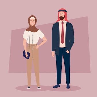 Mensen dragen tulband en hijaab