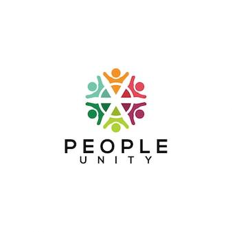 Mensen eenheid logo vector