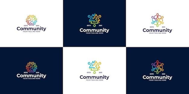 Mensen en gemeenschap logo-ontwerp voor teams of groepen