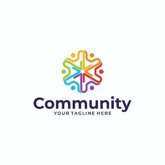 Mensen en gemeenschap logo-ontwerp
