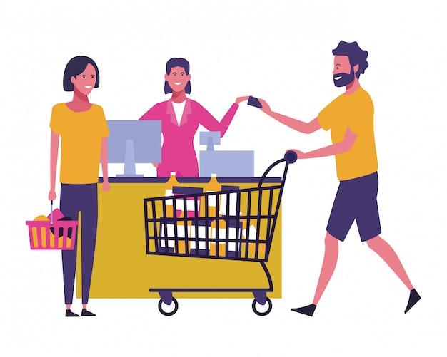 Mensen en winkelen