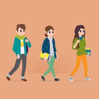Mensen gaan naar de universiteit
