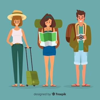Mensen gaan op reisachtergrond
