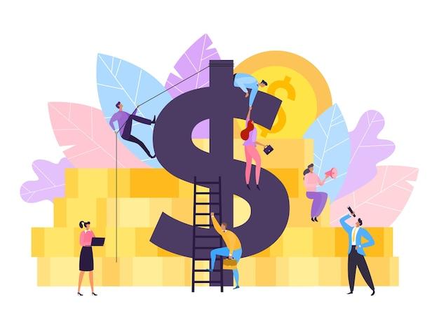 Mensen gaan voor succes en zakelijke investeringen